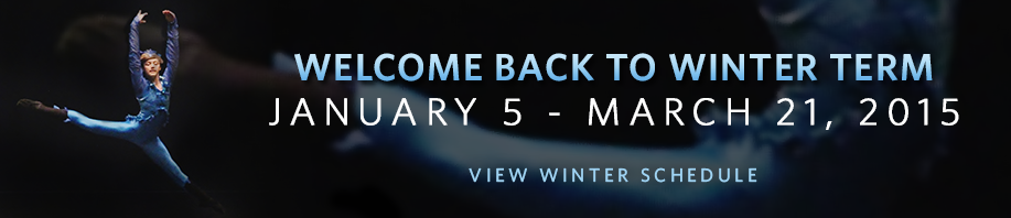 Welcome back to winter term. Click to view the winter schedule.